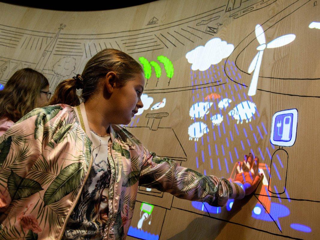 Mur climatique interactif